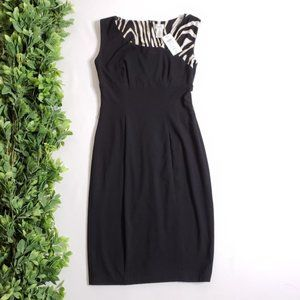 CACHE Sheath Sleeveless Little Black Dress